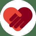 shaking hands love round